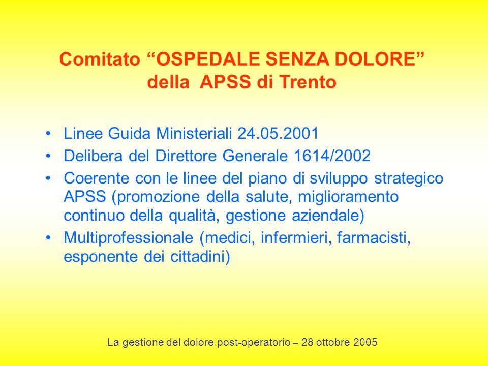 Comitato OSPEDALE SENZA DOLORE della APSS di Trento
