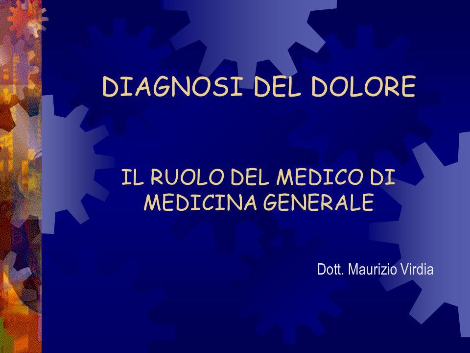 DIAGNOSI DEL DOLORE IL RUOLO DEL MEDICO DI MEDICINA GENERALE