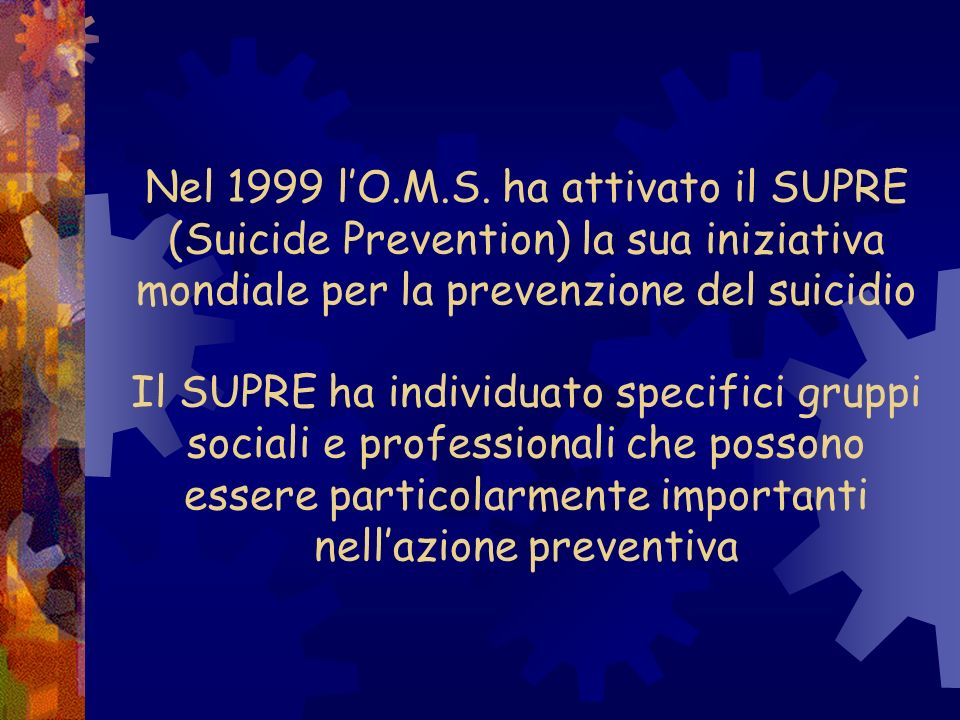 Nel 1999 l'O.M.S.