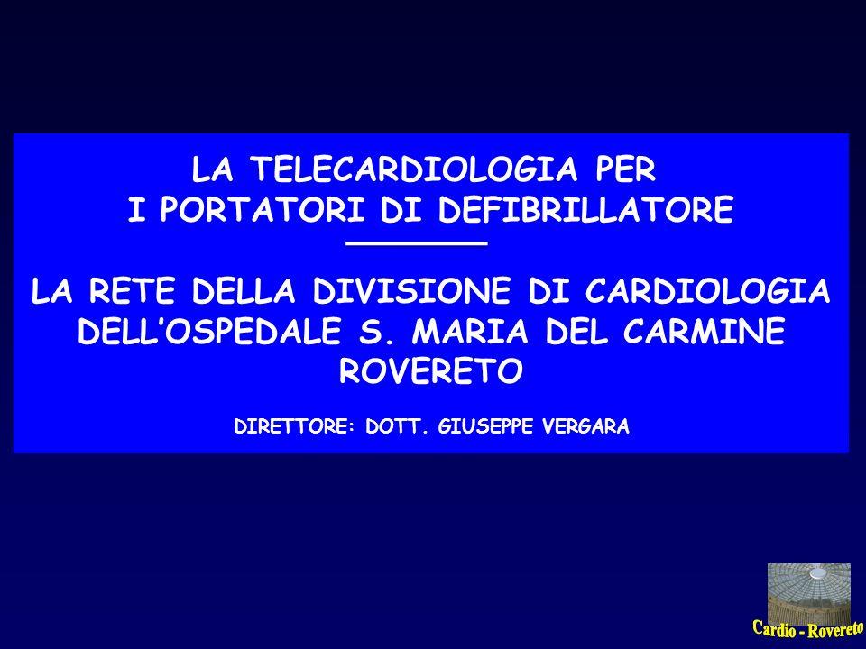 LA TELECARDIOLOGIA PER I PORTATORI DI DEFIBRILLATORE