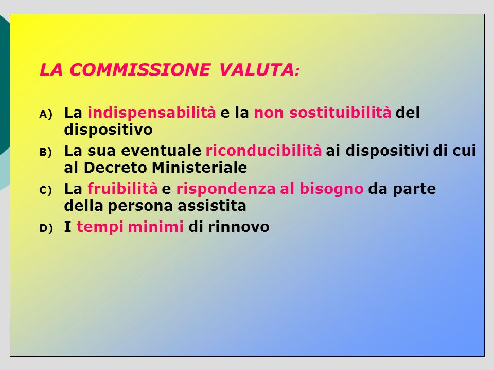 LA COMMISSIONE VALUTA: