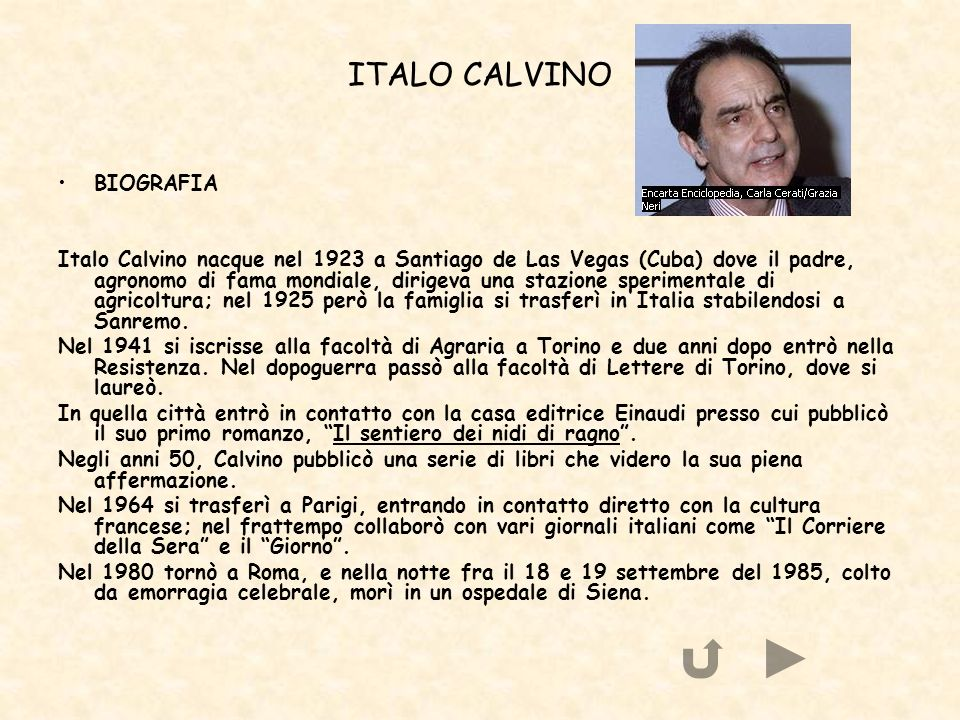 ITALO CALVINO BIOGRAFIA
