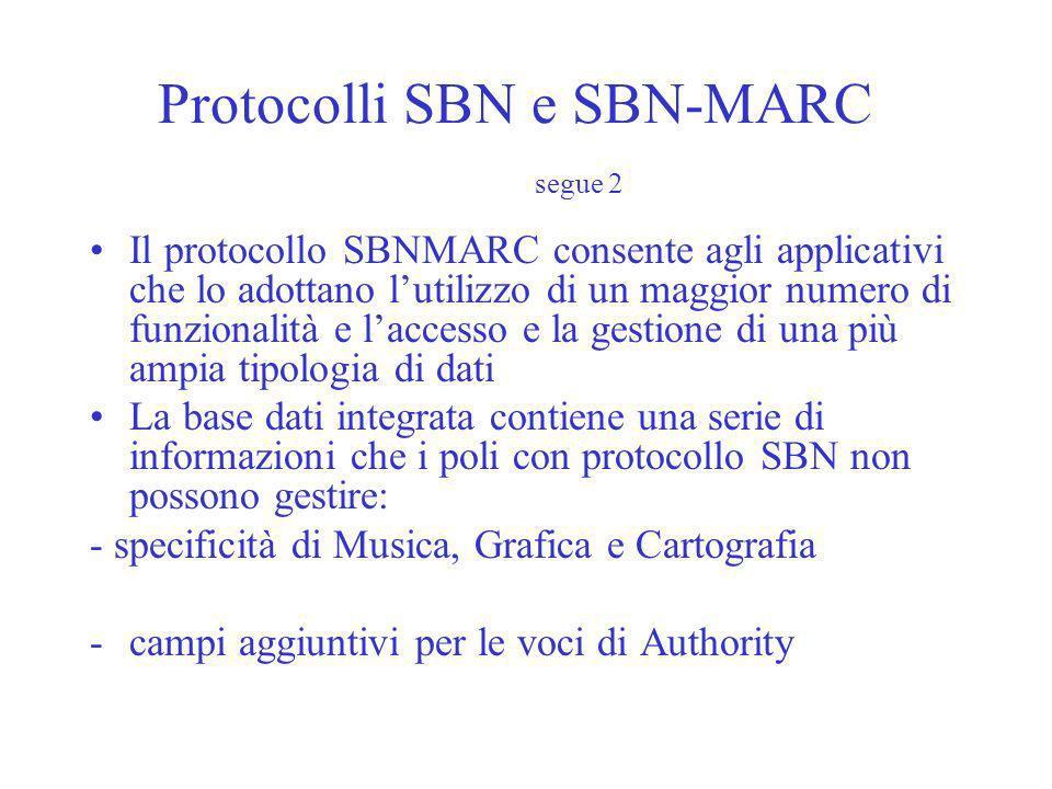 Protocolli SBN e SBN-MARC segue 2