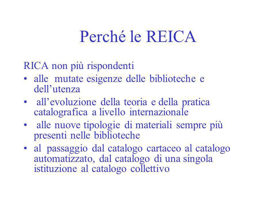 Perché le REICA RICA non più rispondenti
