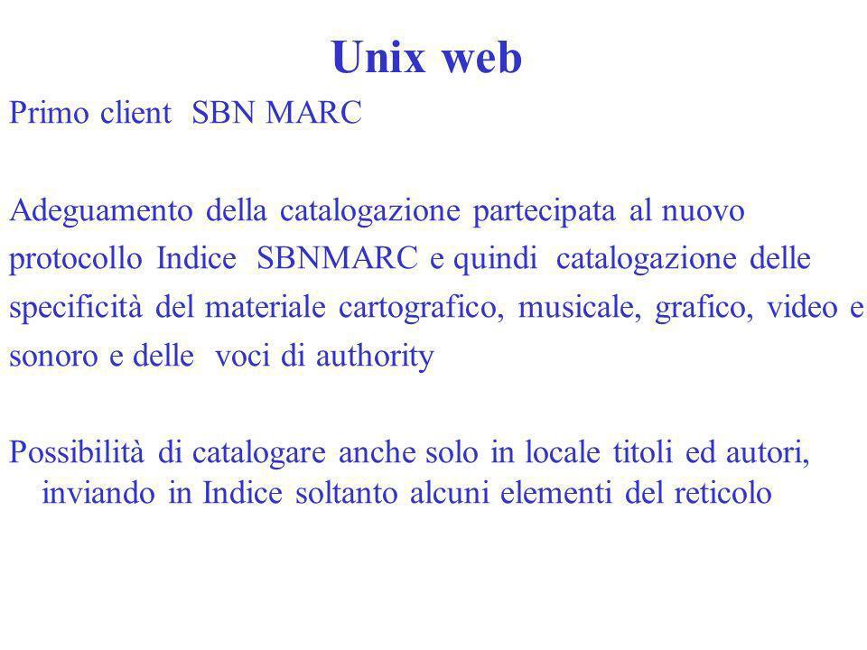Unix web Primo client SBN MARC