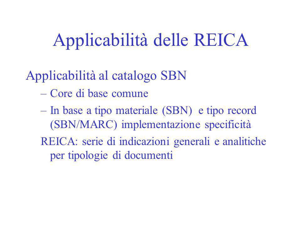 Applicabilità delle REICA