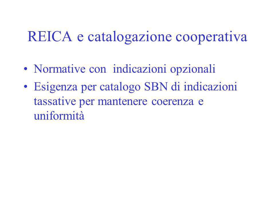 REICA e catalogazione cooperativa