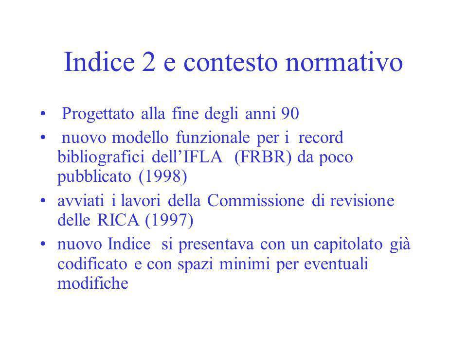 Indice 2 e contesto normativo