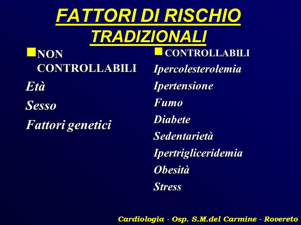 FATTORI DI RISCHIO TRADIZIONALI