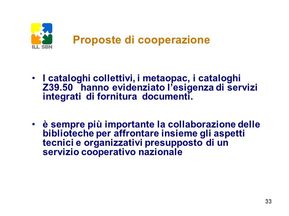 Proposte di cooperazione