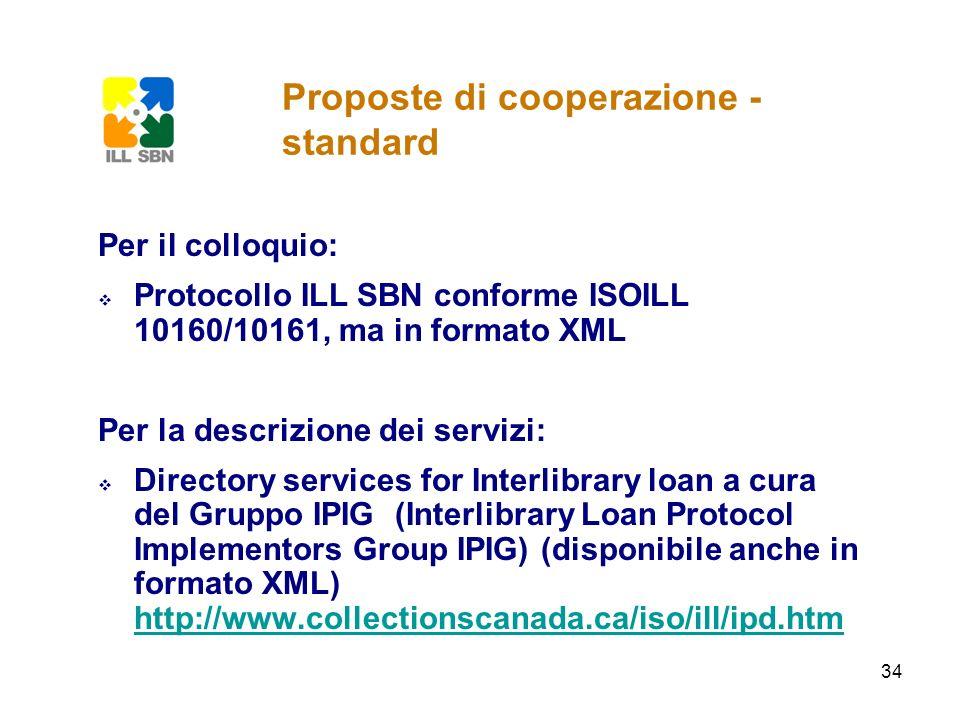 Proposte di cooperazione - standard