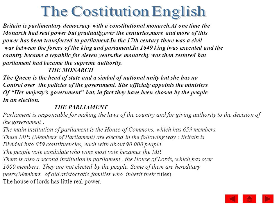 The Costitution English