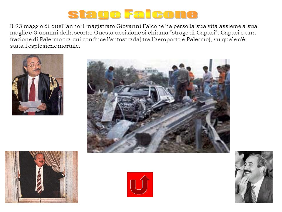 stage Falcone Il 23 maggio di quell'anno il magistrato Giovanni Falcone ha perso la sua vita assieme a sua.