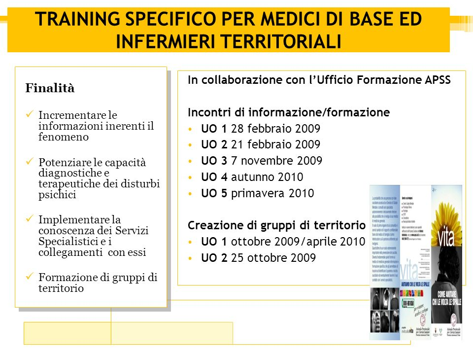 TRAINING SPECIFICO PER MEDICI DI BASE ED INFERMIERI TERRITORIALI
