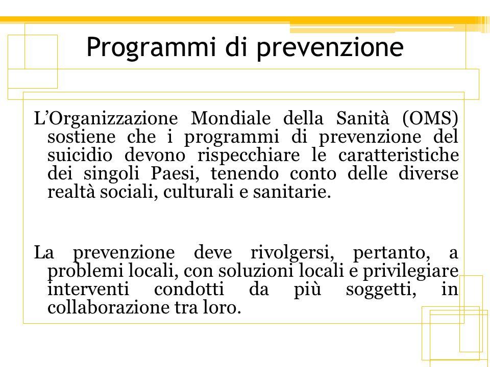Programmi di prevenzione