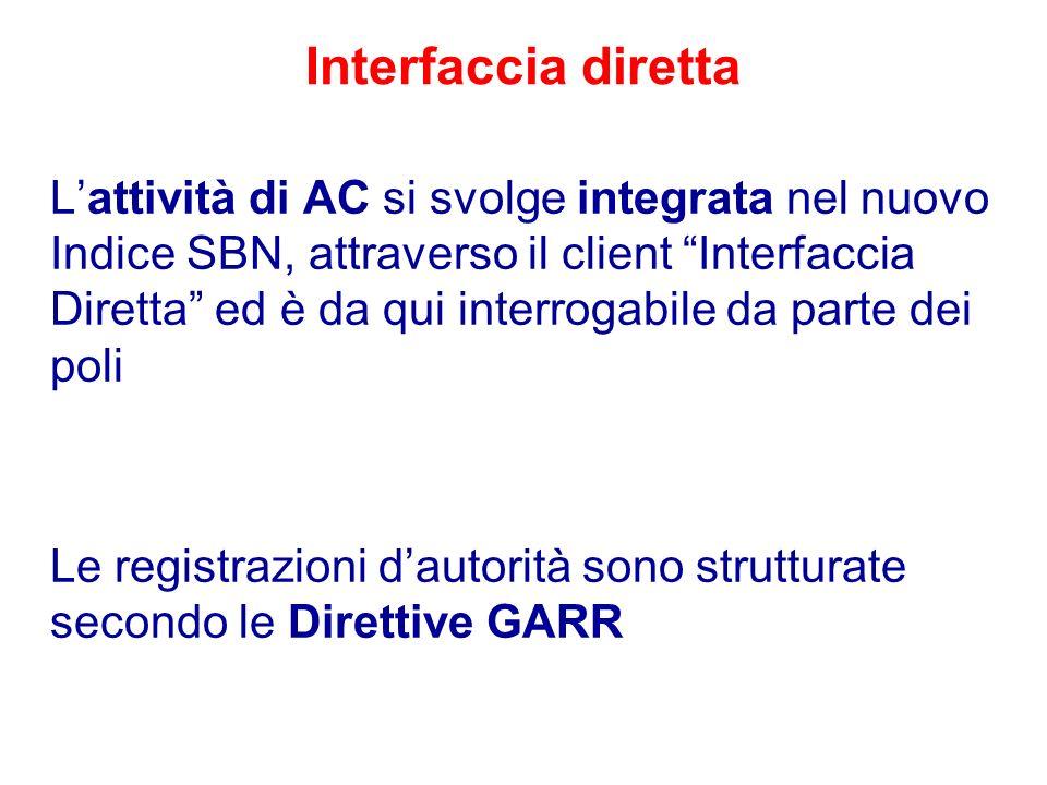 Interfaccia diretta