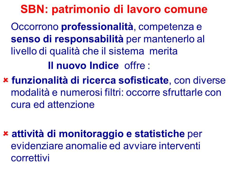 SBN: patrimonio di lavoro comune