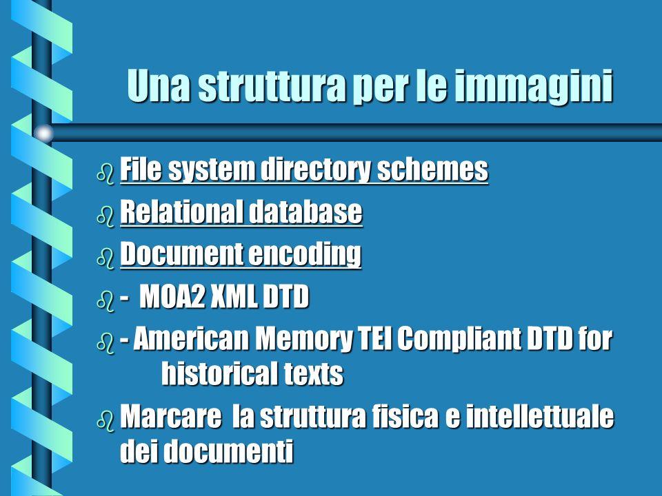 Una struttura per le immagini