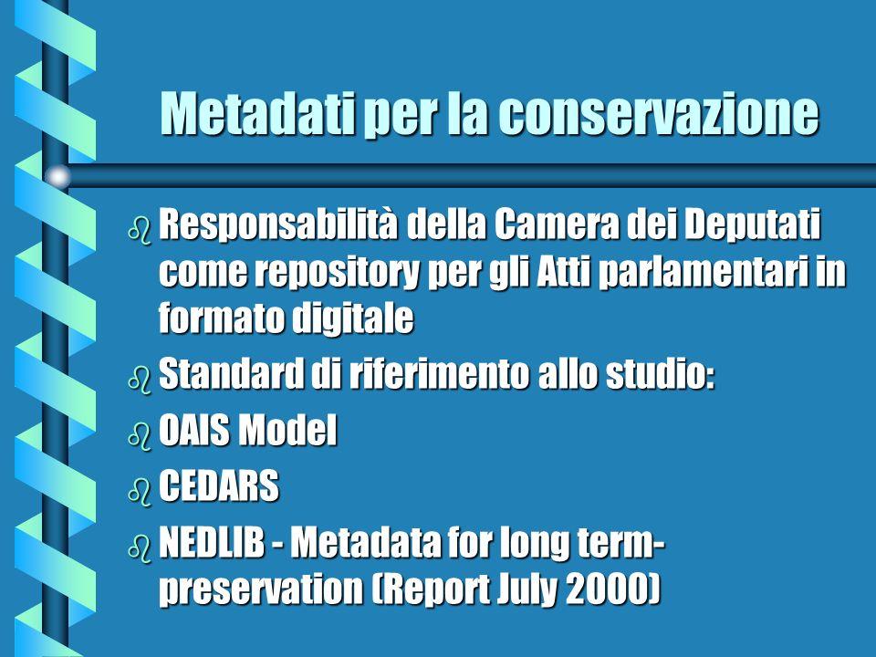 Metadati per la conservazione