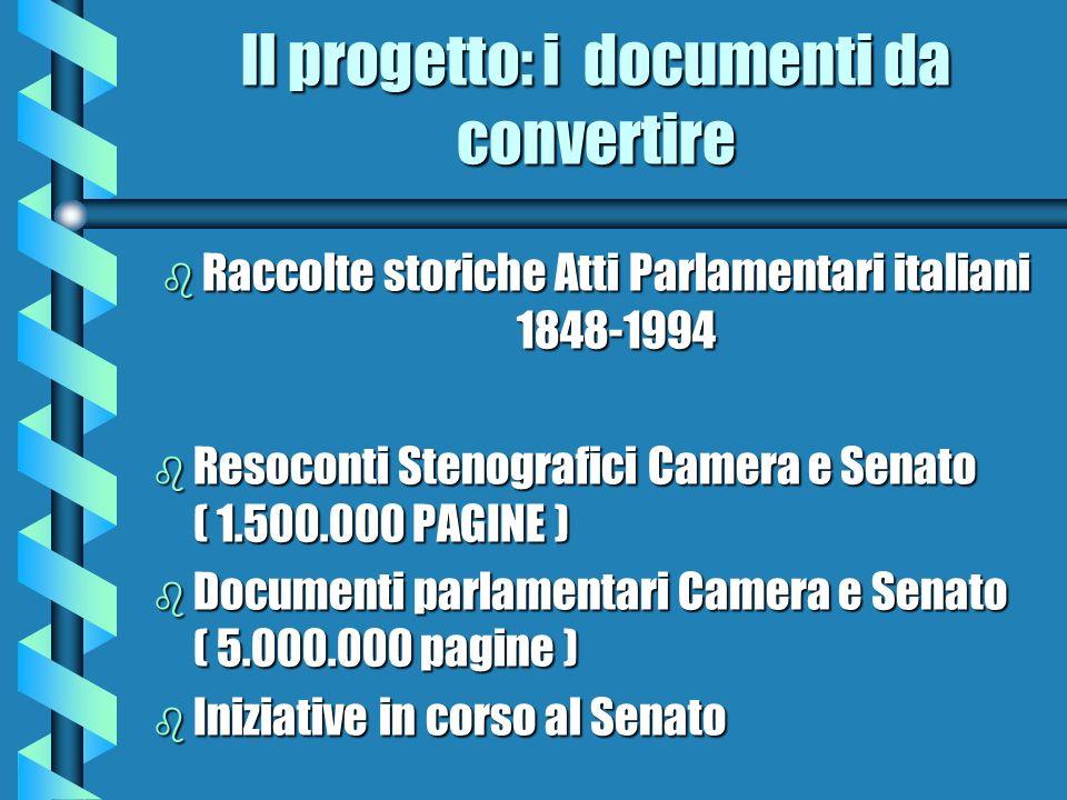 ll progetto: i documenti da convertire