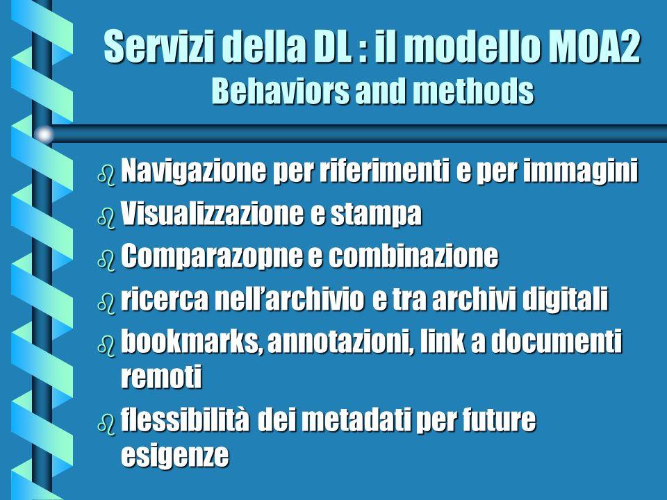 Servizi della DL : il modello MOA2 Behaviors and methods