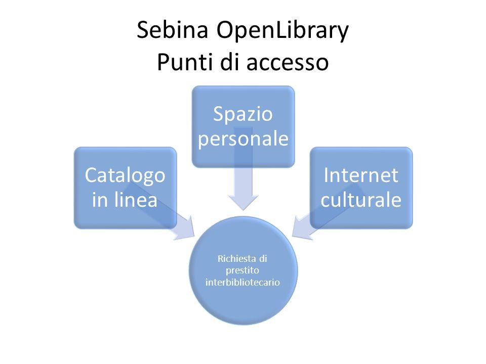Sebina OpenLibrary Punti di accesso
