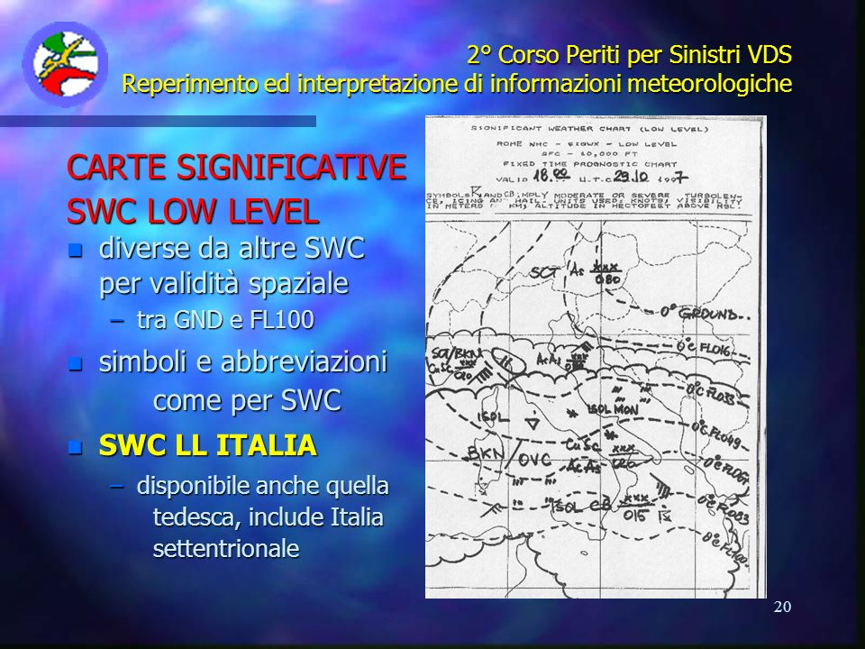 CARTE SIGNIFICATIVE SWC LOW LEVEL diverse da altre SWC
