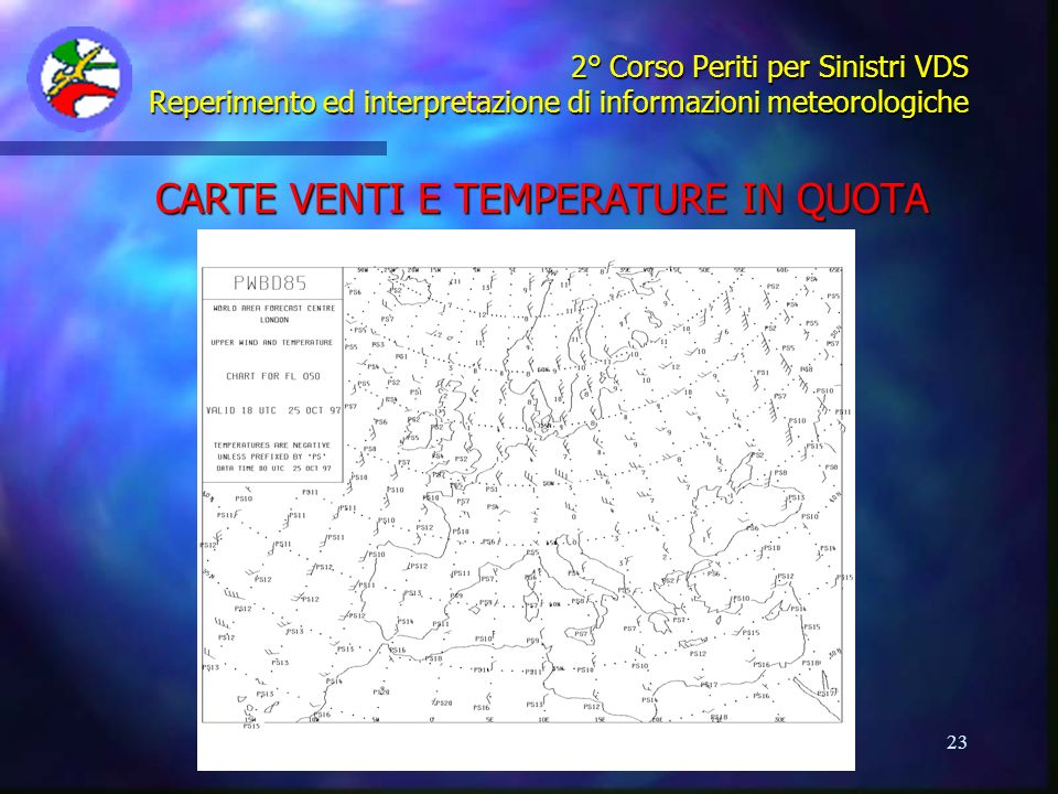 CARTE VENTI E TEMPERATURE IN QUOTA