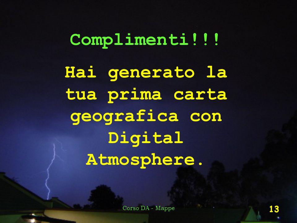 Hai generato la tua prima carta geografica con Digital Atmosphere.