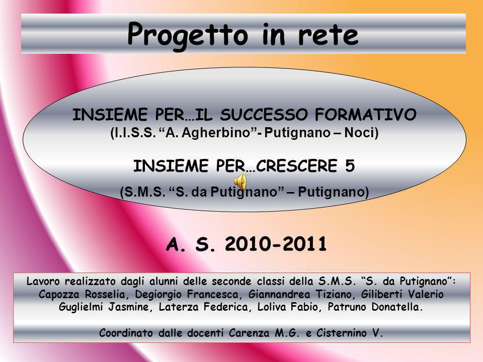 Progetto in rete A. S. 2010-2011 INSIEME PER…IL SUCCESSO FORMATIVO