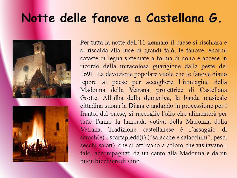 Notte delle fanove a Castellana G.