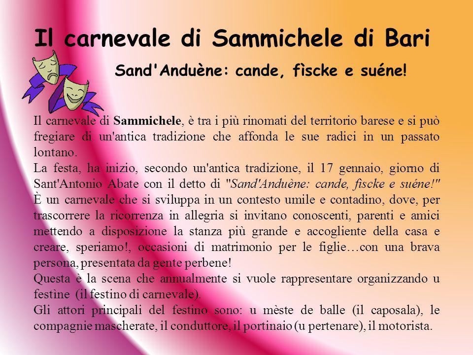 Il carnevale di Sammichele di Bari