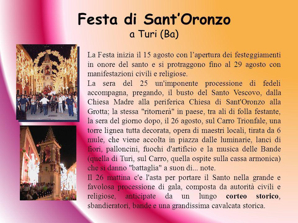 Festa di Sant'Oronzo a Turi (Ba)