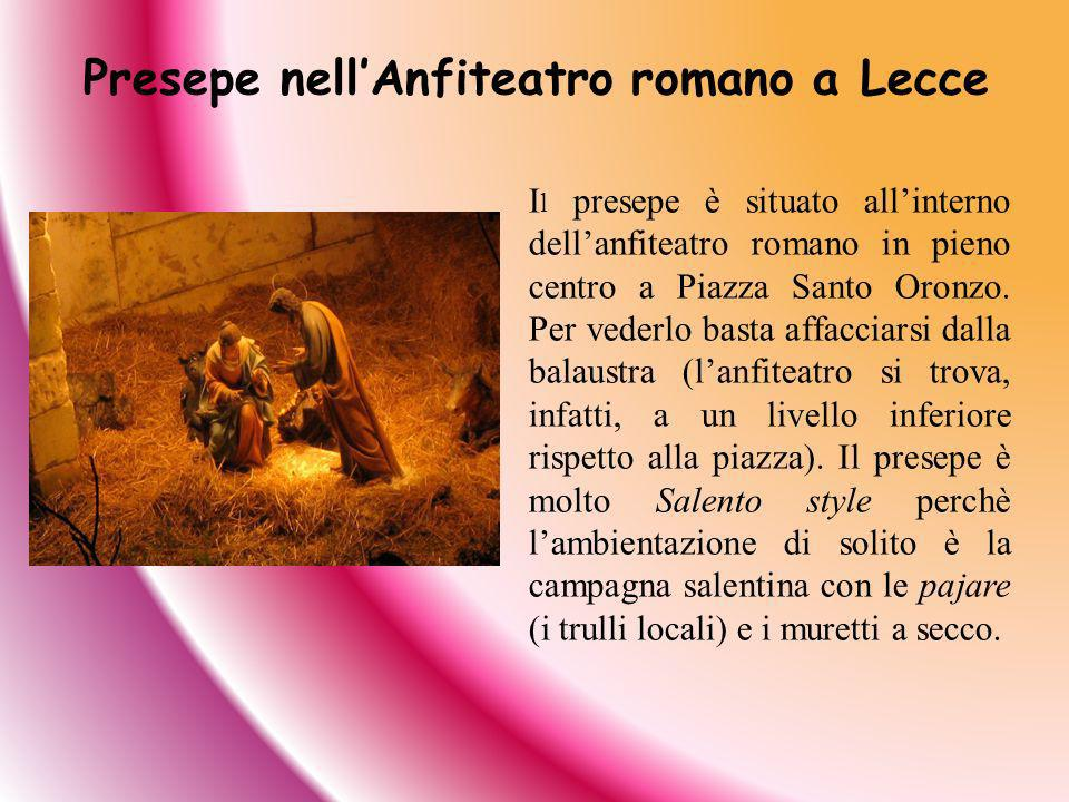 Presepe nell'Anfiteatro romano a Lecce