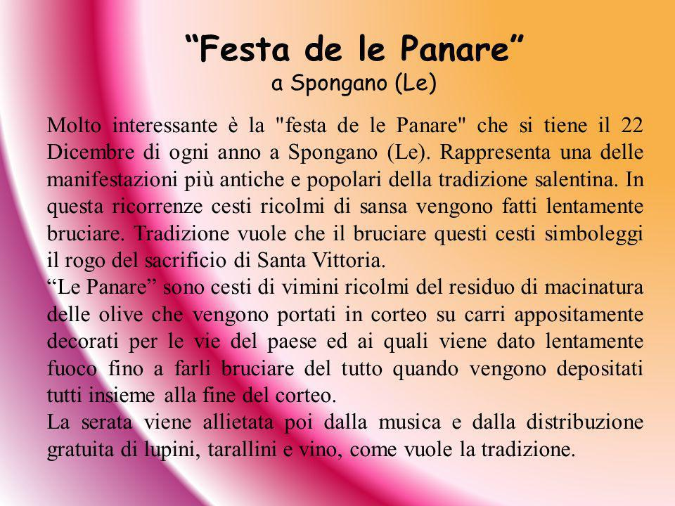 Festa de le Panare a Spongano (Le)