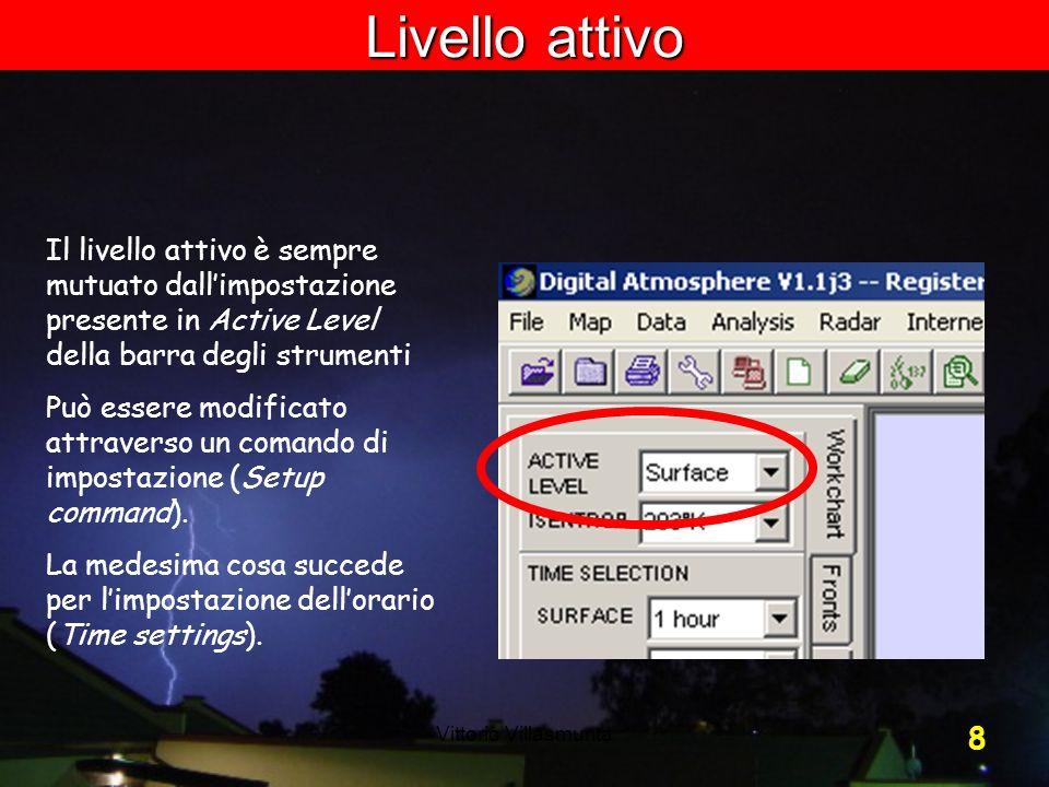 Livello attivo Il livello attivo è sempre mutuato dall'impostazione presente in Active Level della barra degli strumenti.