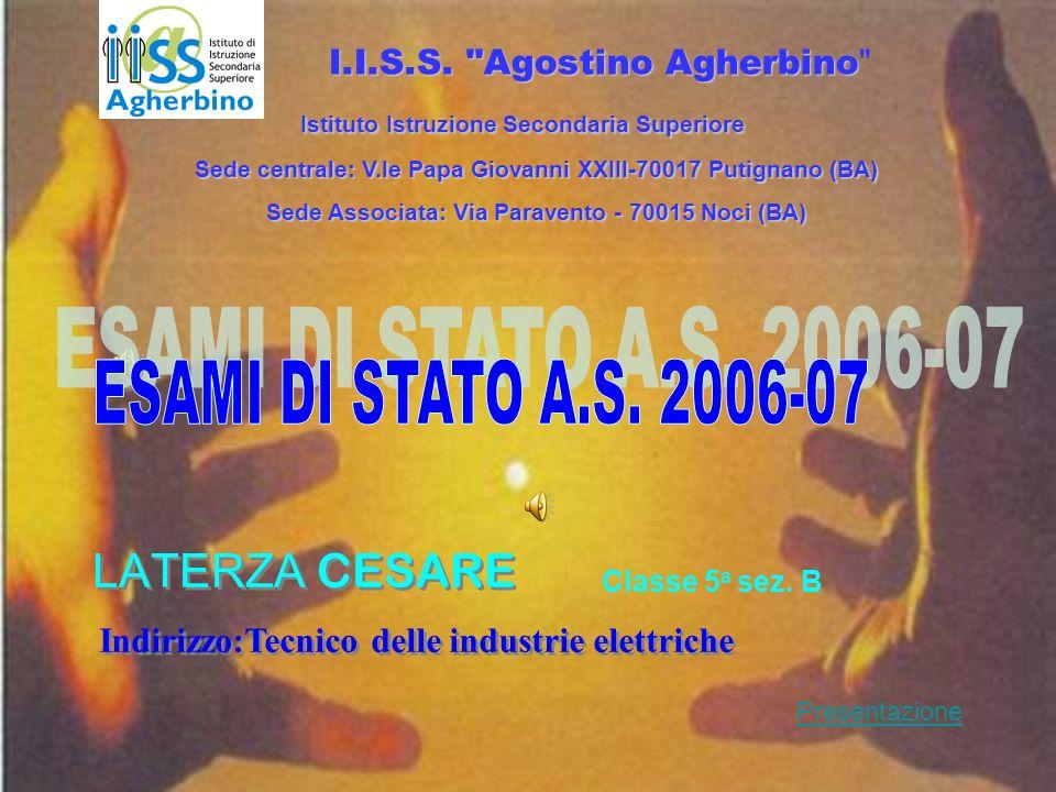 ESAMI DI STATO A.S. 2006-07 LATERZA CESARE