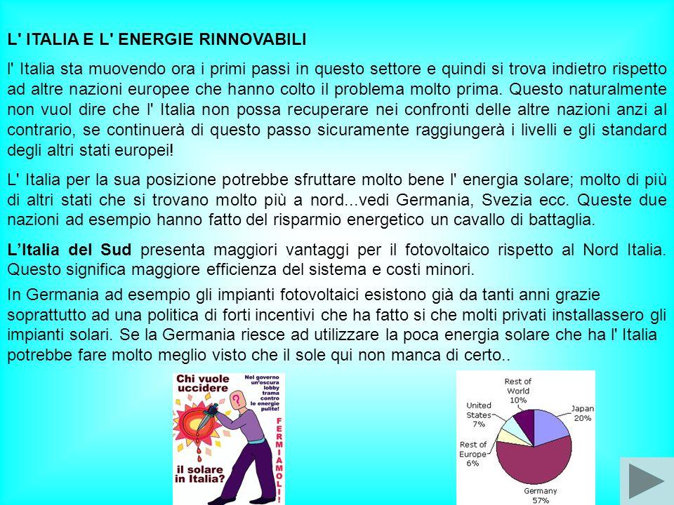 L ITALIA E L ENERGIE RINNOVABILI