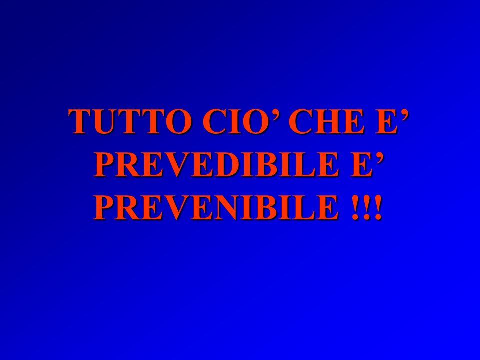 TUTTO CIO' CHE E' PREVEDIBILE E' PREVENIBILE !!!