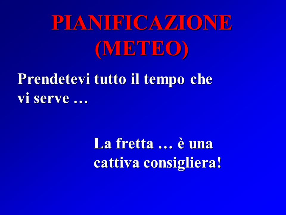PIANIFICAZIONE (METEO)