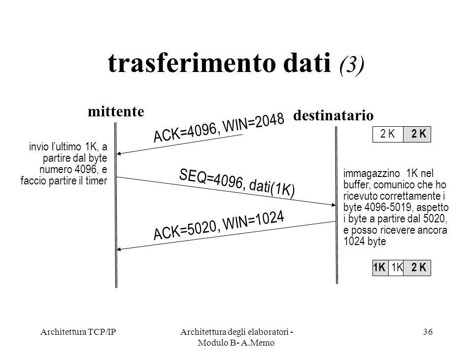 Architettura degli elaboratori -Modulo B- A.Memo