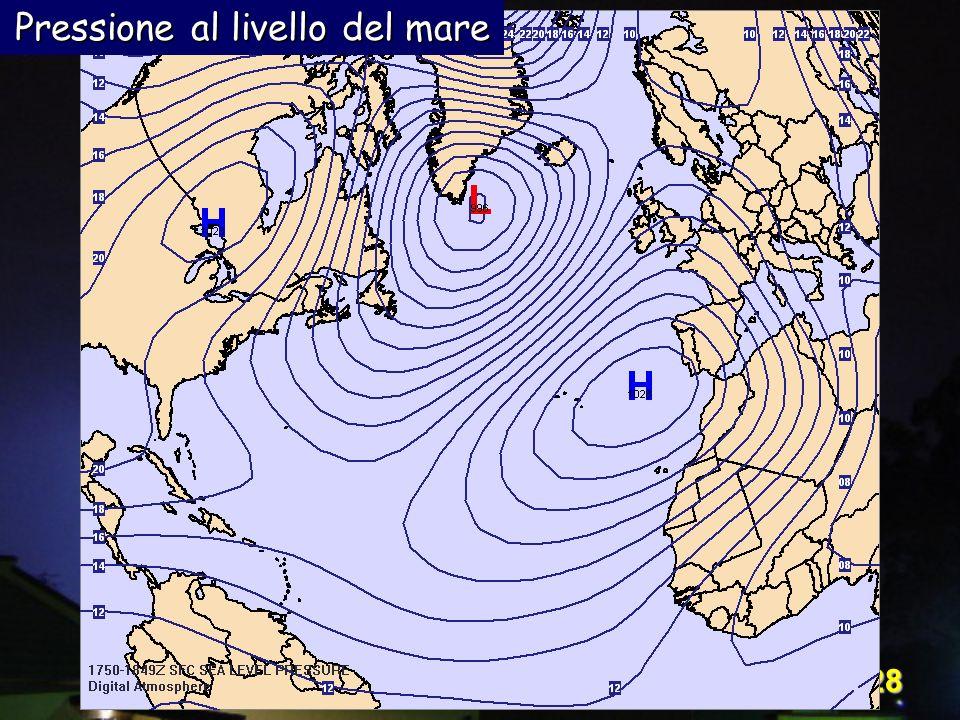 Pressione al livello del mare