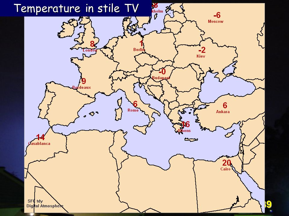 Temperature in stile TV