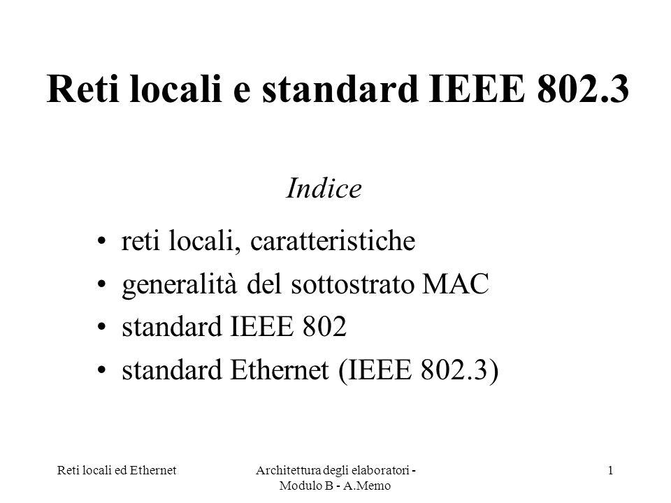 Reti locali e standard IEEE 802.3