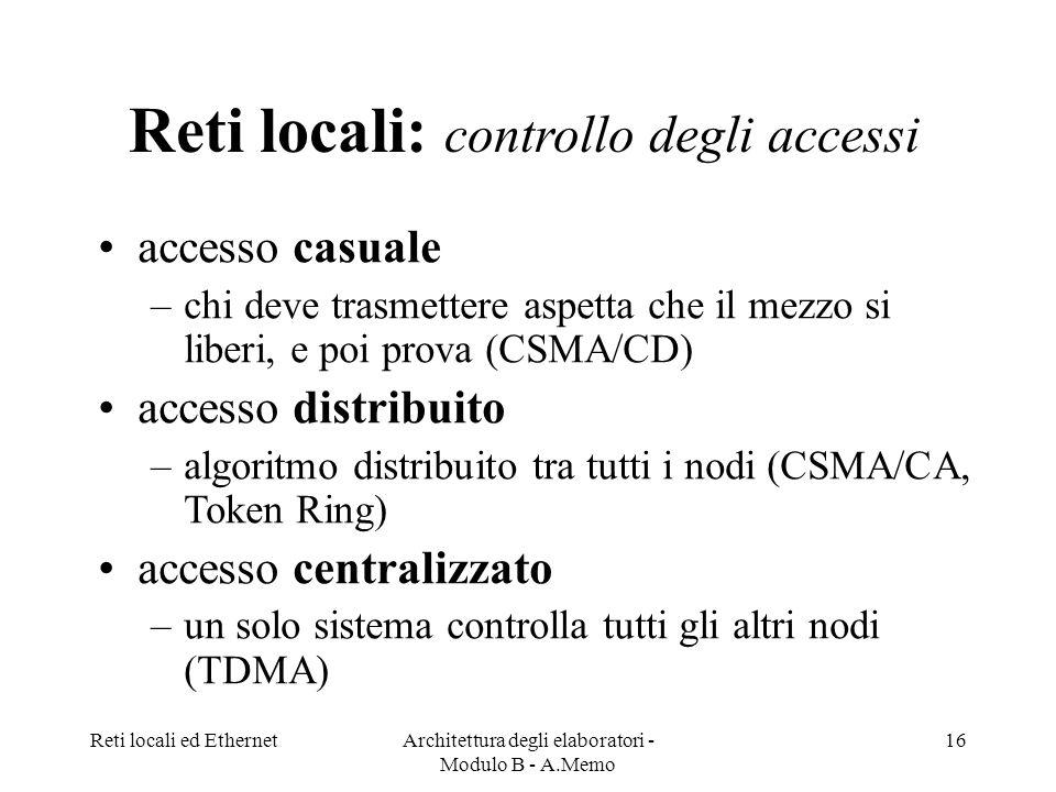 Reti locali: controllo degli accessi
