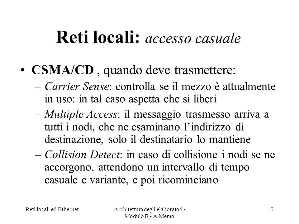Reti locali: accesso casuale