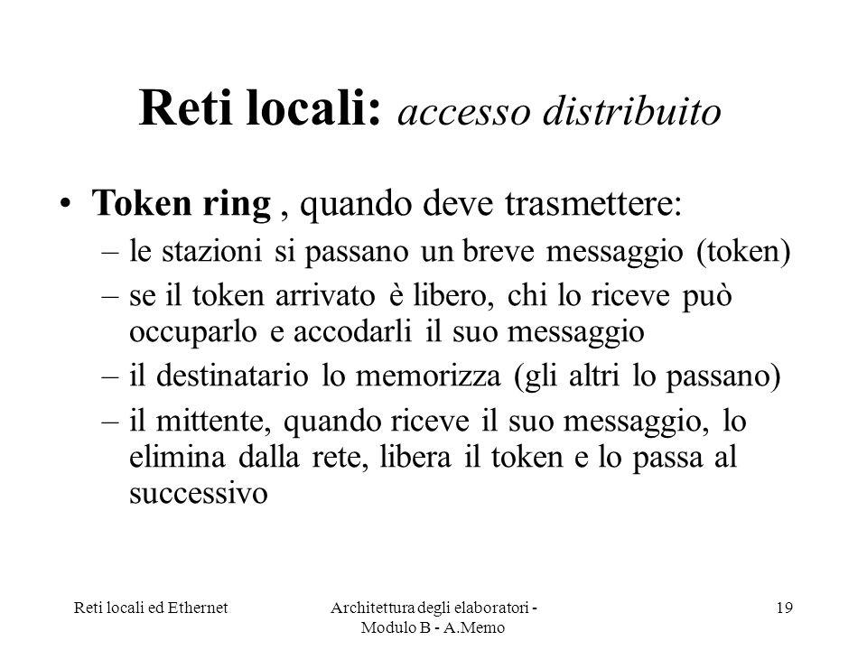Reti locali: accesso distribuito