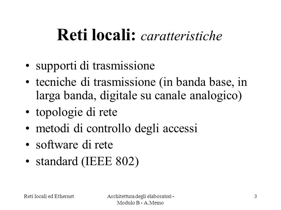 Reti locali: caratteristiche