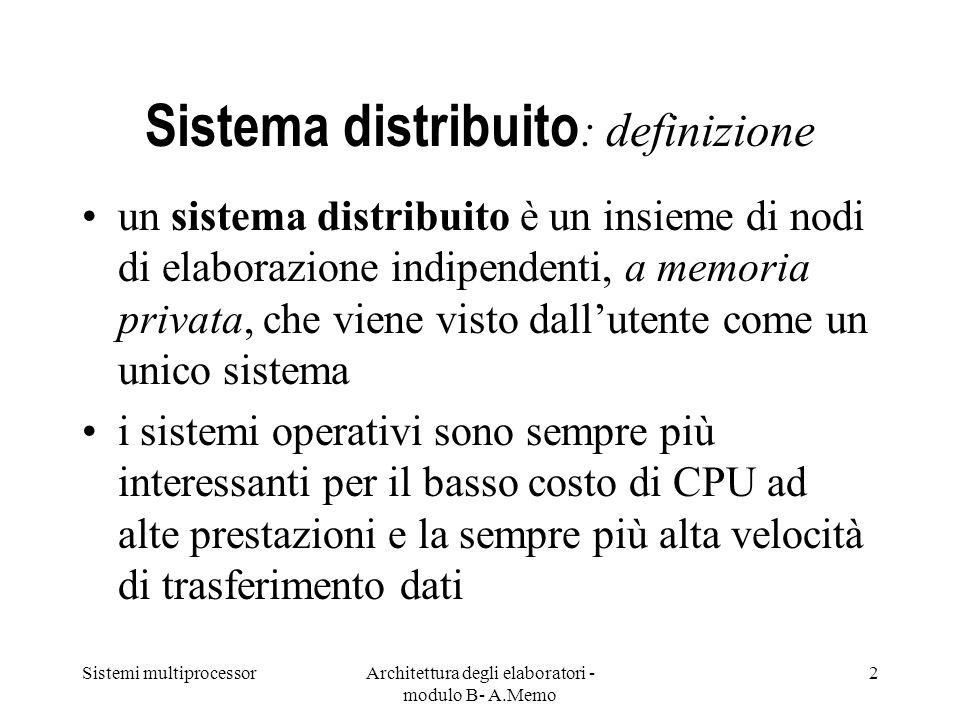 Sistema distribuito: definizione