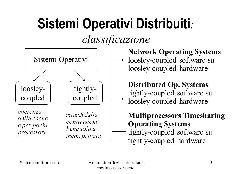Sistemi Operativi Distribuiti: classificazione